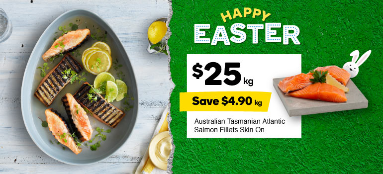 Salmon Tas Atlantic fillets Skin On Fresh $25.00, Save $4.90 per kg. Shop now.