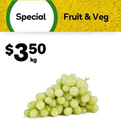 Grape White Seedless, $3.50 per kg. Shop now.