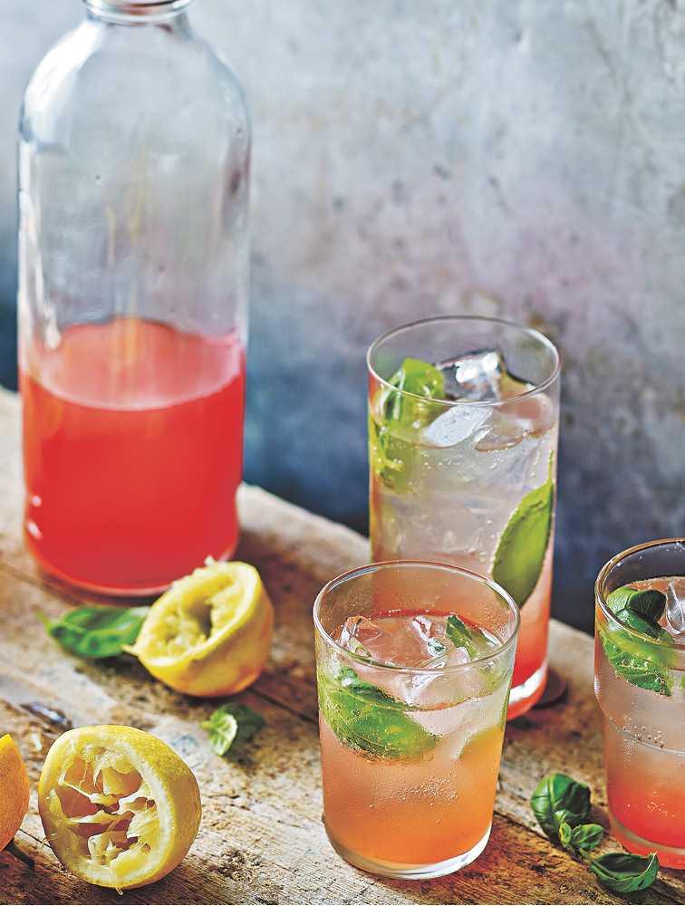 Jamie's Peach & Basil Lemonade Recipe | Woolworths